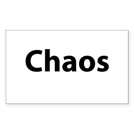 Chaos Sticker (Rectangle)