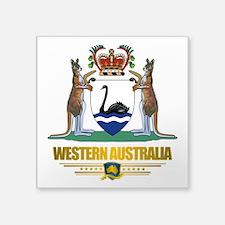 """Western Australia COA 2.png Square Sticker 3"""" x 3"""""""