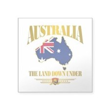 """Land Down Under.png Square Sticker 3"""" x 3"""""""