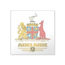 "Adelaide (Flag 10)2.png Square Sticker 3"" x 3"""