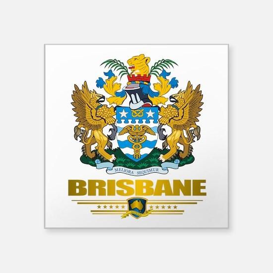 "Brisbane (Flag 10)2.png Square Sticker 3"" x 3"""