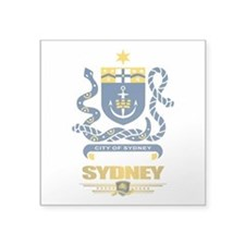 "Sydney (Flag 10)2.png Square Sticker 3"" x 3"""