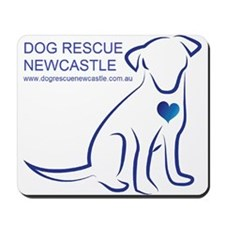 Dog Rescue Newcastle simple logo 2 Mousepad