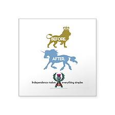 "Crests Square Sticker 3"" x 3"""