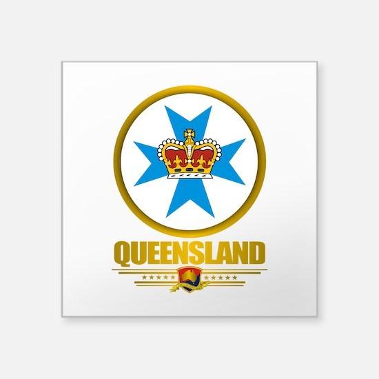 "Queensland Emblem Square Sticker 3"" x 3"""