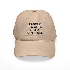 Cancer Word Baseball Cap