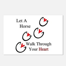 Horse Hoof Hearts Postcards (Package of 8)