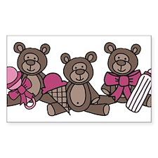 Bear Triplets Decal