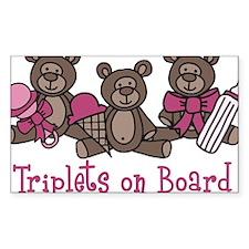 Triplets On Board Decal