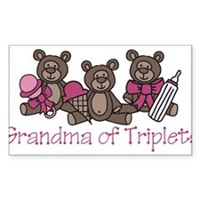Grandma Of Triplets Decal