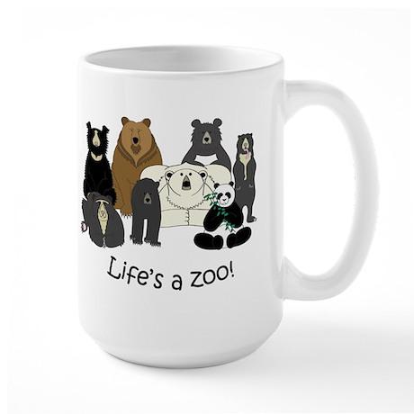 8 Bear Species Large Mug