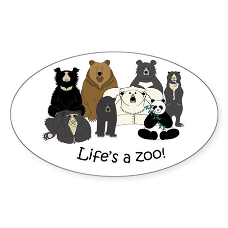 8 Bear Species Sticker (Oval)