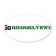 go_brooklynne Oval Car Magnet
