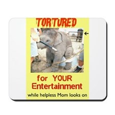 elephant circus abuse Mousepad