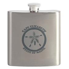 Cape Elizabeth ME - Sand Dollar Design. Flask