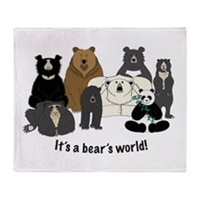 Bear's World Throw Blanket