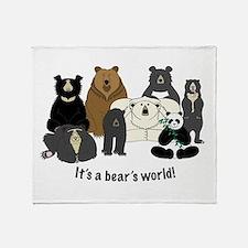 Bear's World Throw Blanket