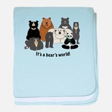Bear's World baby blanket
