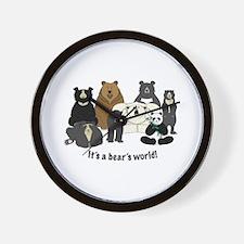 Bear's World Wall Clock