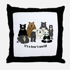 Bear's World Throw Pillow