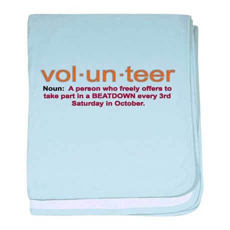 Volunteer definition baby blanket