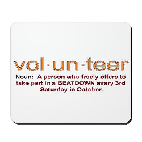 Volunteer definition Mousepad