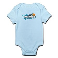 Cape Elizabeth ME - Surf Design. Infant Bodysuit