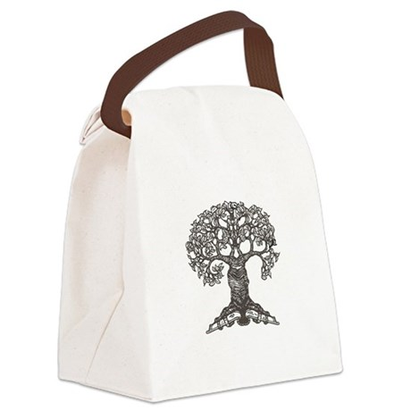 tree_for_totebag_black2.png Canvas Lunch Bag