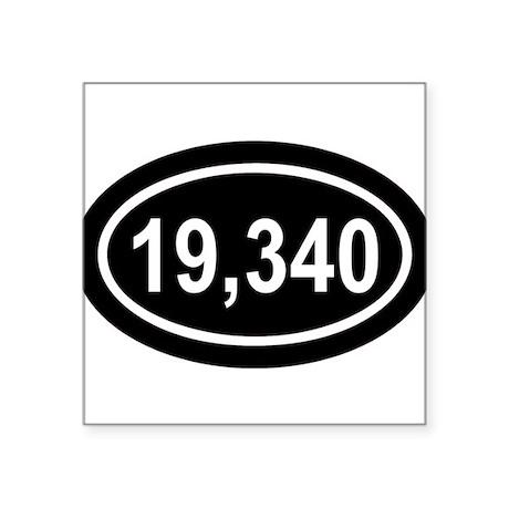 19,340 Mt. Kilmanjaro Black Euro Oval Sticker