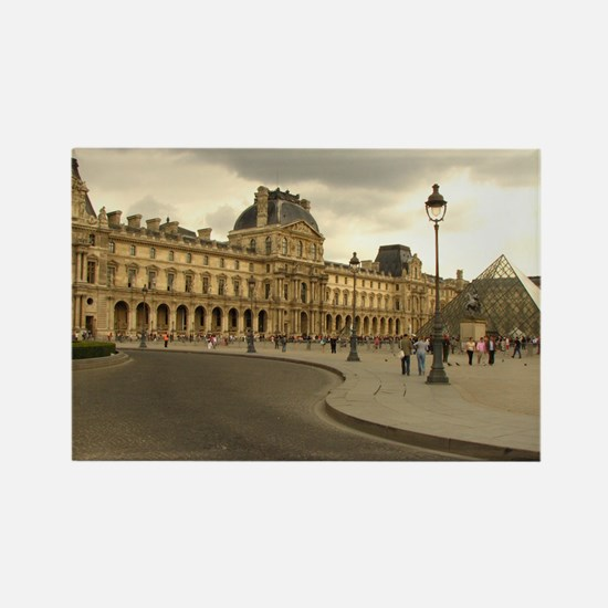 Cloudy Louvre Rectangle Magnet