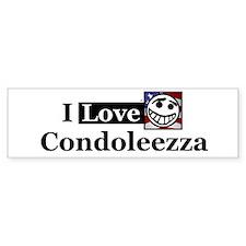 I Love Condoleezza Bumper Bumper Sticker