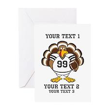 Custom Turkey Bowl Greeting Card