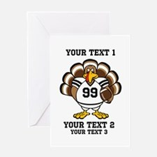 Custom Turkey Bowl Greeting Card