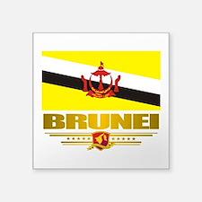 "Brunei (Flag 10)2.png Square Sticker 3"" x 3"""