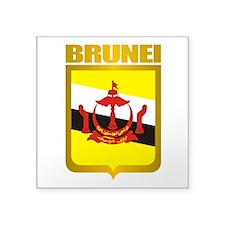 "Brunei Gold 2.png Square Sticker 3"" x 3"""