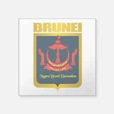 "Brunei Gold.png Square Sticker 3"" x 3"""