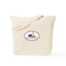 Cape Elizabeth ME - Oval Design. Tote Bag