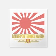 "Teikoku Kaigun (Flag 10)2.png Square Sticker 3"" x"