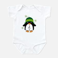 Music Gift Christmas Penguin Infant Bodysuit
