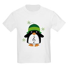 Music Gift Christmas Penguin T-Shirt