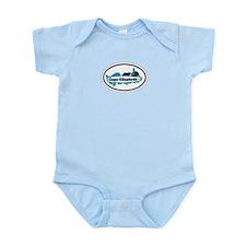 Cape Elizabeth ME - Oval Design. Infant Bodysuit
