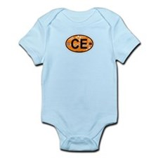 Cape Elizabeth ME - Oval Design. Infant Bodysuit
