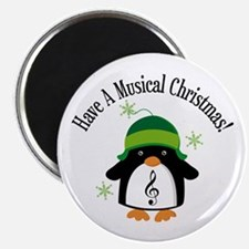 Musical Christmas Penguin Gift Magnet