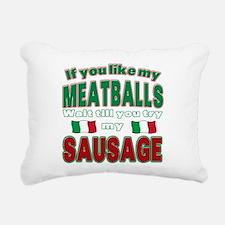 Meatballs.png Rectangular Canvas Pillow