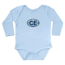 Cape Elizabeth ME - Oval Design. Long Sleeve Infan