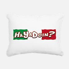 HaYaDoin(blk).png Rectangular Canvas Pillow