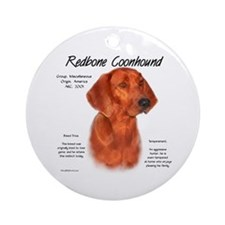 Redbone Coonhound Ornament (Round)