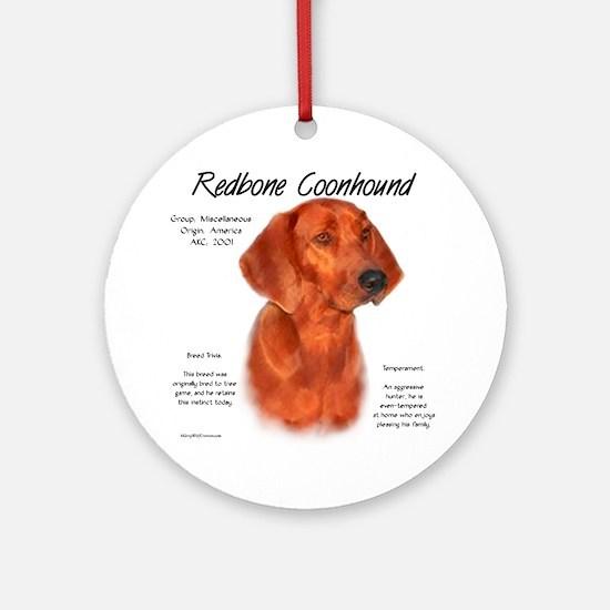 Redbone Coonhound Ornament (Round)