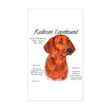 Redbone Coonhound Rectangle Decal