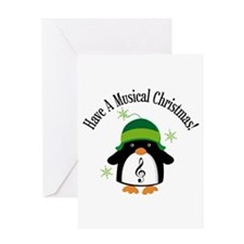 Musical Christmas Penguin Gift Greeting Card